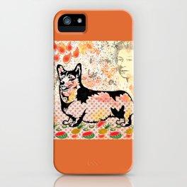 Corgi pop art iPhone Case