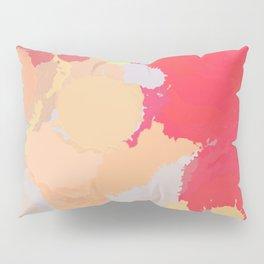 Red abstract splatter Pillow Sham