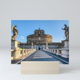 Ponte and Castel Sant'Angelo - Rome, Italy Mini Art Print