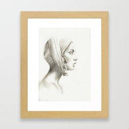 Portrait of Numbness Framed Art Print
