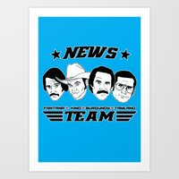 anchorman Art Prints featuring news team - the anchorman by Buby87