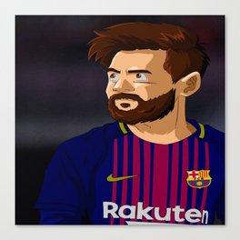 messi cartoon Canvas Print