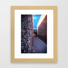Do you dare enter Bubblegum Alley Framed Art Print