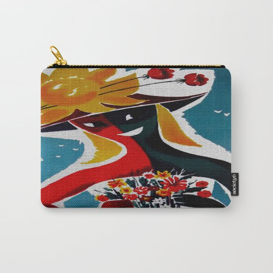 Portugal - Vintage Travel Carry-All Pouch