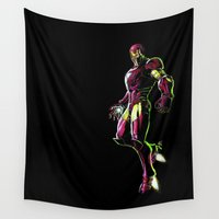 ironman Wall Tapestries featuring Ironman by DmDan