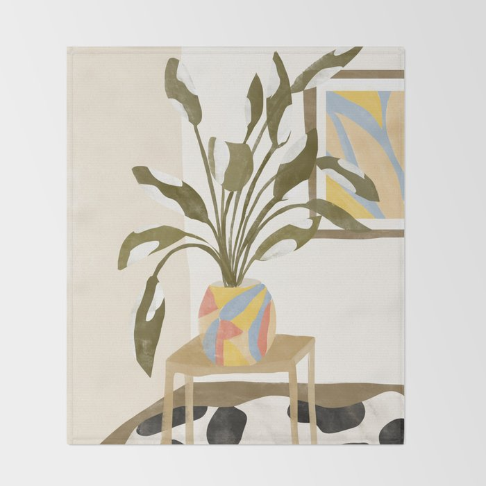 The Plant Room Throw Blanket