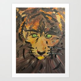 All lives are beautiful Art Print