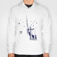 ski Hoodies featuring Ski lift by Grilldress