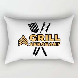 Grill Sergeant - Barbecue BBQ Grilling Meat Rectangular Pillow