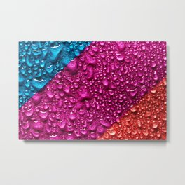 Abstract Colorful Wet Paper 01 Metal Print
