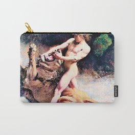 Leon Bonnat - Samson's youth - Digital Remastered Edition Carry-All Pouch