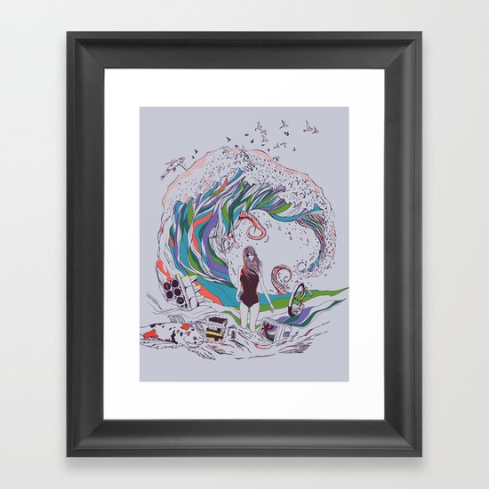 Ocean Myths Framed Art Print