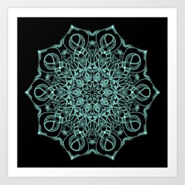 Mandala Project 235 | Seafoam Green Art Print