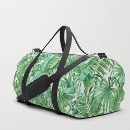 Green tropical leaves III Duffle Bag