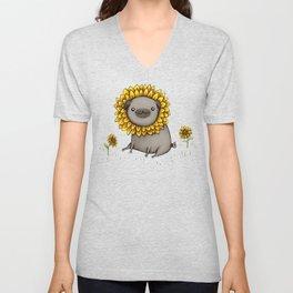 Pugflower Unisex V-Neck