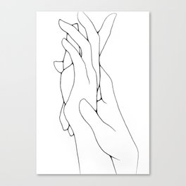 holding hands Canvas Print