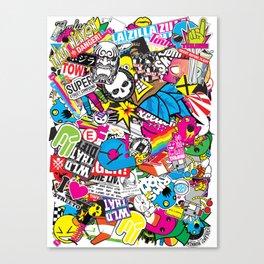 Stickerbomb Canvas Print