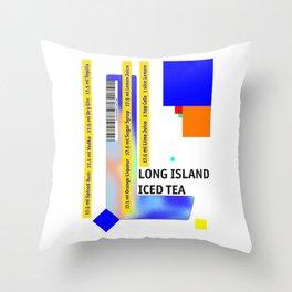 "Cocktail ""L"" - Long Island Iced Tea Throw Pillow"