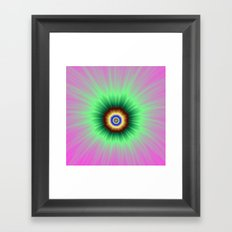 Explosion of Color in Pink and Green Framed Art Print