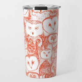 just owls flame orange Travel Mug
