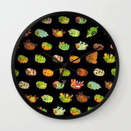 Caterpillar - dark Wall Clock