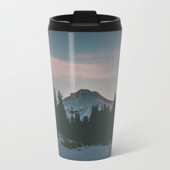Frozen Mirror Lake Metal Travel Mug
