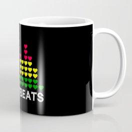 Heartbeats (black) Coffee Mug