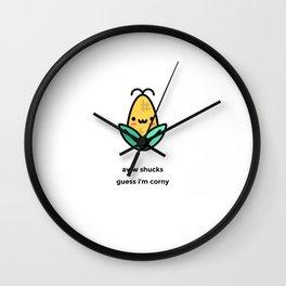 JUST A PUNNY CORN JOKE! Wall Clock