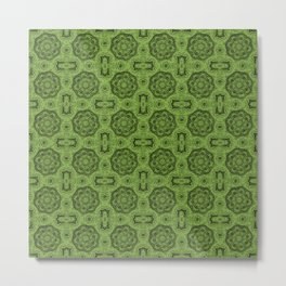 Greenery Doily Floral Metal Print