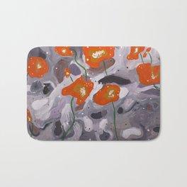 Poppies On Indian Rock Bath Mat