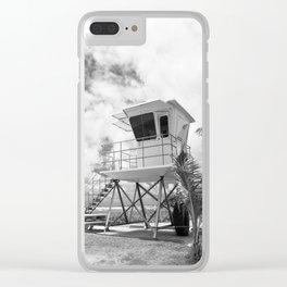 Lifeguard tower in Kauai, Hawaii Clear iPhone Case