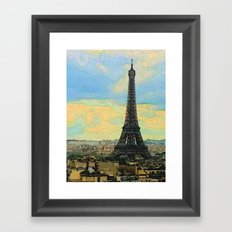 Watercolor Dream of Paris Framed Art Print