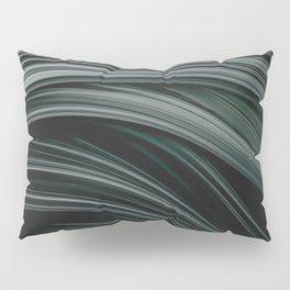 Charcoal Flow. Abstract Art Pillow Sham