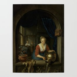 """Gerard Dou """"Maid at the Window"""" Poster"""