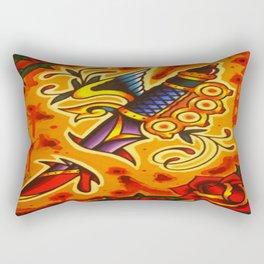Traditional Tattoo Art Rectangular Pillow