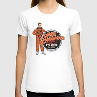 suits T-shirts featuring Dr. Dave Bowman's EVA Suits by Doodle Dojo