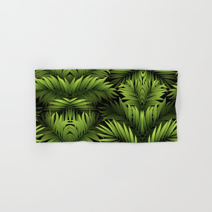 Tropical Frond Pattern Hand & Bath Towel