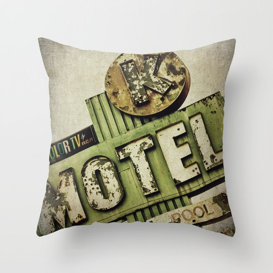 Circle K Motel Sign  Throw Pillow