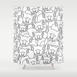 Minimalist Koala Shower Curtain