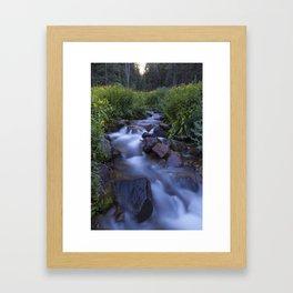 Rocky Mountain h2o Framed Art Print