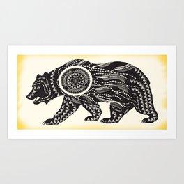 Dream Catcher Bear Art Print