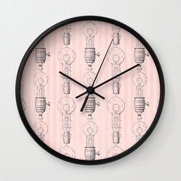 Beatiful Light Bulb Design Wall Clock