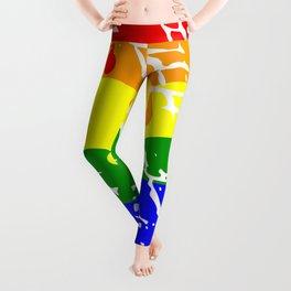 Freedom flag Rainbow Born Me Leggings