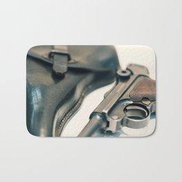 Luger P08 Parabellum handgun. Bath Mat