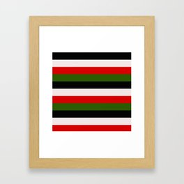 Four Tone Stripes - Christmas Framed Art Print