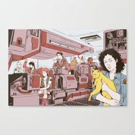 Aboard the Nostromo Canvas Print