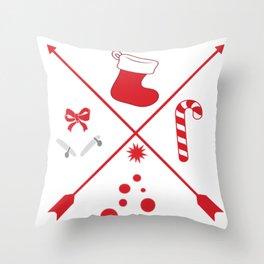 Happy Xmas Throw Pillow