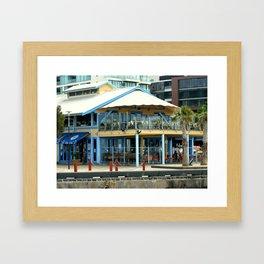 The blue Restaurant Framed Art Print