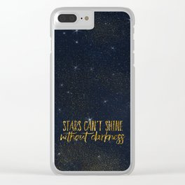 Stars- Darkness - sparkling gold glitter effect night typography on #Society6 Clear iPhone Case