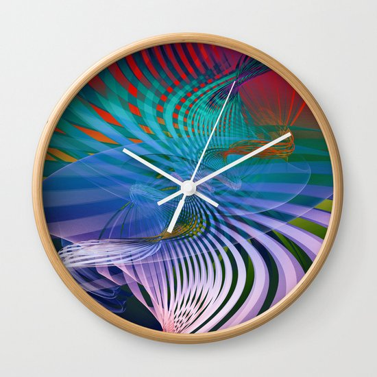 Gently Twisted Wall Clock